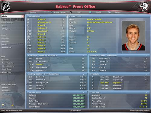 manager 2007 screenshot game nhl eastside hockey manager 2007 pc date
